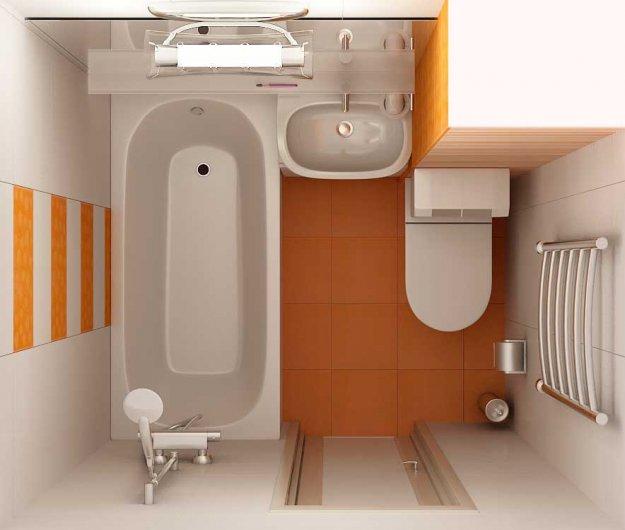 Інтер'єр ванної в хрущовці