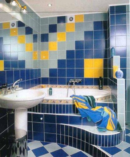 Ванная комната человека с