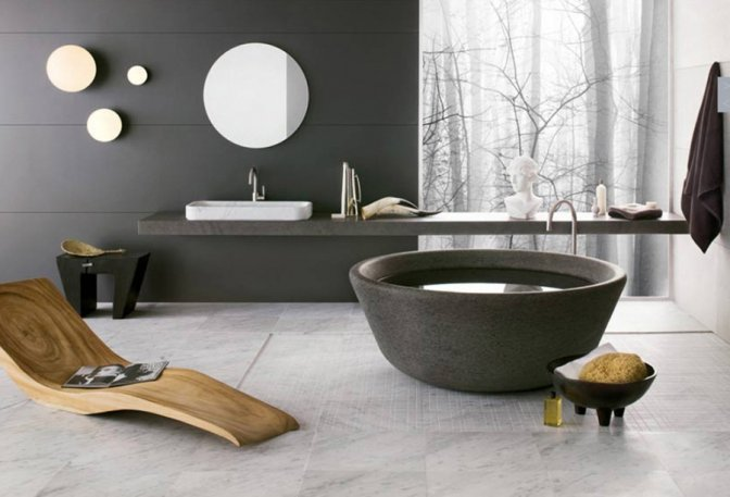Незвичайний дизайн ванної
