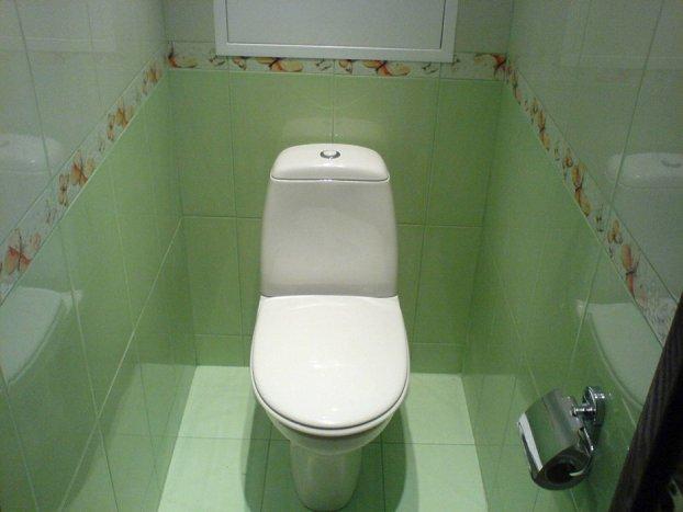 Отделка туалета пластиковыми