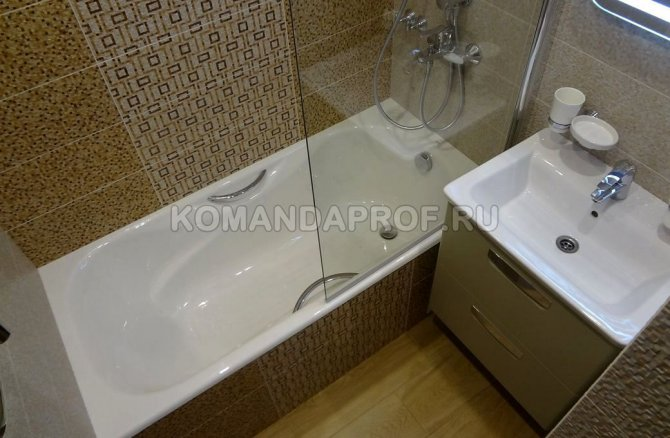 Ремонт ванной и туалета под