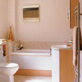 Інтер'єр суміщеної ванної кімнати з туалетом