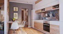 оформлення стін на кухні