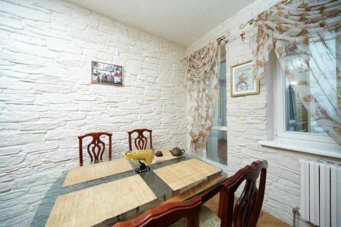 Фото дизайн кухонь декоративный камень
