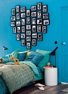 Романтична ідея для спальні - викладене з кадрів серце