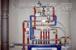 Сантехніка в новобудові розводка водопроводу СПБ