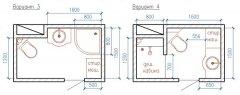 Варіанти розміщення сантехніки у ванній 1500 × 2260