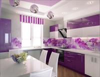 Вибір інтер'єру кухні в фіолетових тонах